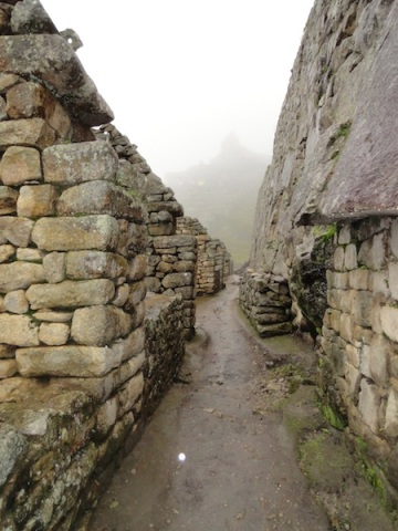 Ancient walls of the Inca empire capital, Machu Picchu