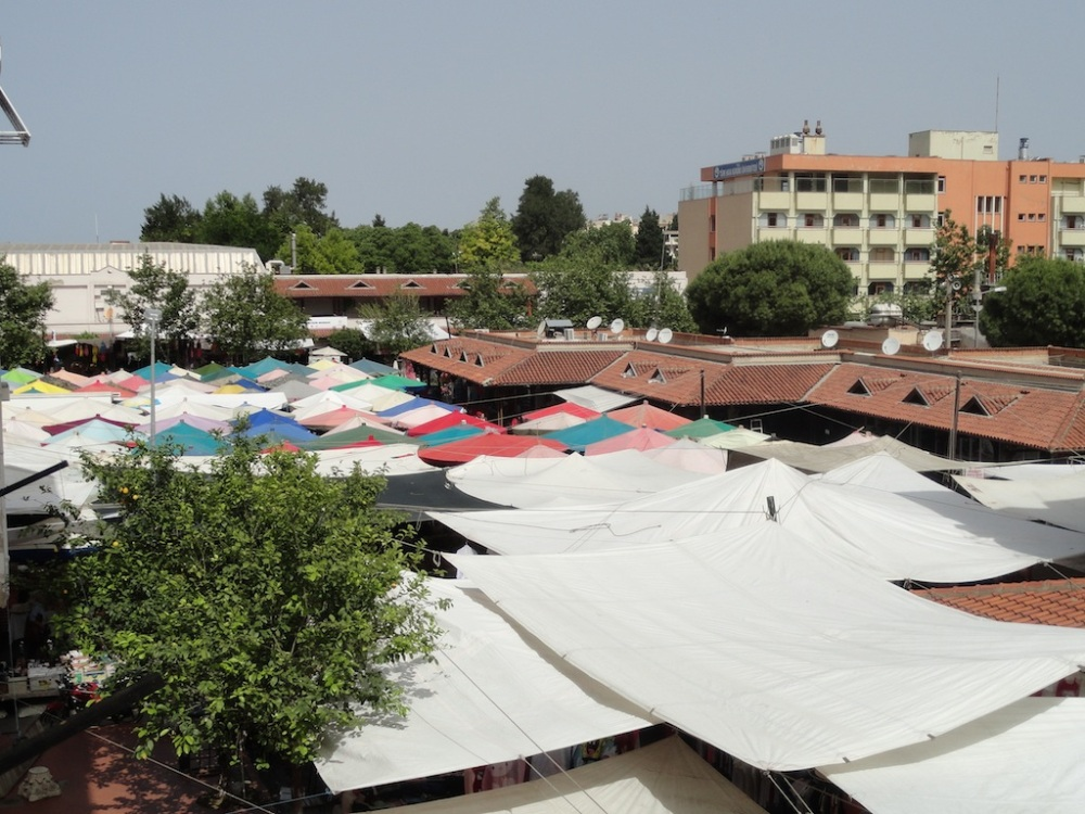 Saturday markets in Selcuk. All streets in the town centre are closed off.