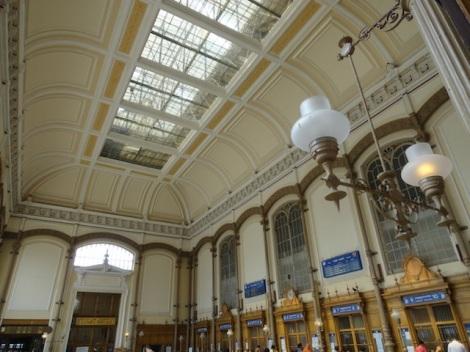 Inside Nyugati train station.