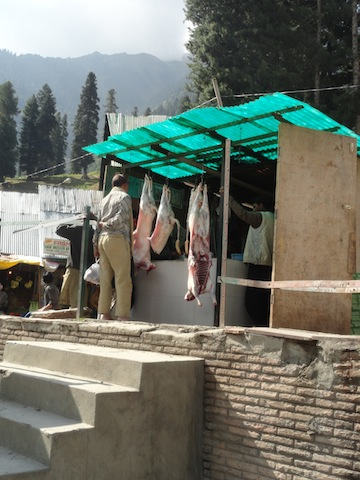 Butcher shop in time for Eid at Sonamarg