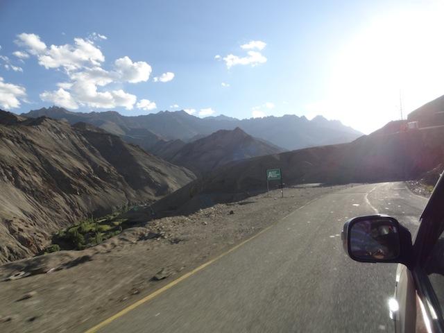 Into Ladakh region by road.