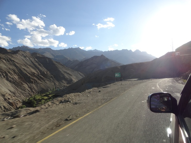 Into Ladakh region by road.