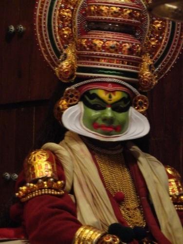 Kathakali makeup - The finished product!