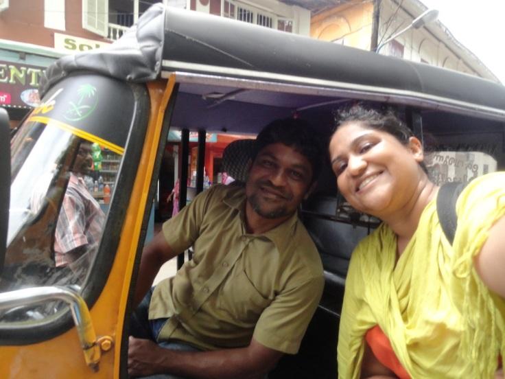 My new rickshawala friend!