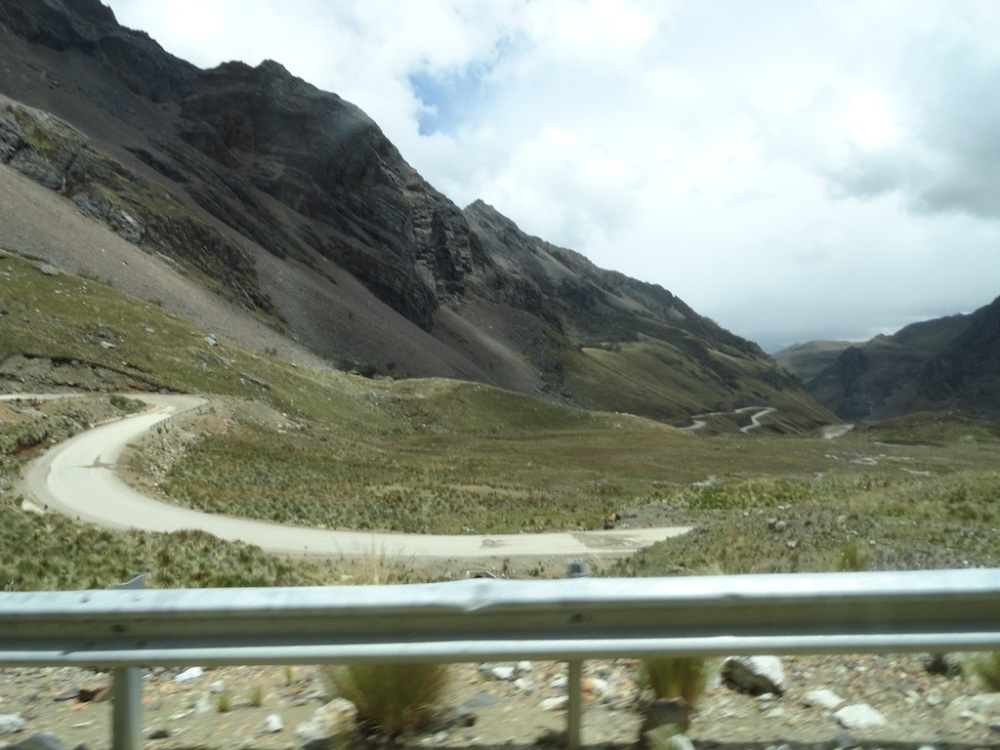 Winding roads through the mountains to the temple site.
