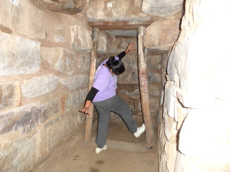 Archelogical works under progress at Chavin de Huantar.