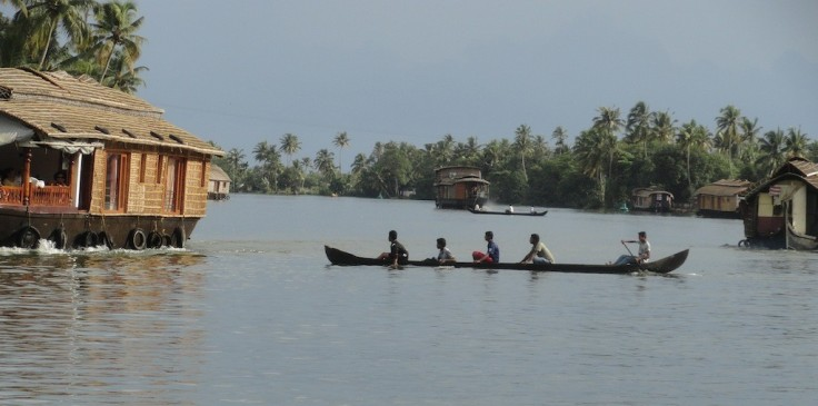 The backwaters of Alleppey.