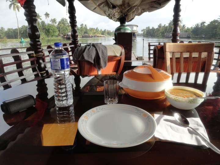 Kerala breakfast on my personal boat!