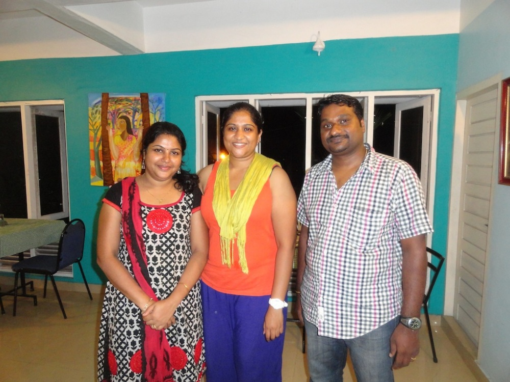 Chef  (Dipu) and owners of Casa Linda Restaurant in Kochi. Exceptional food!