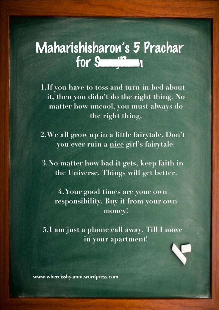 Maharishisharon's 5 Prachar for her Brother