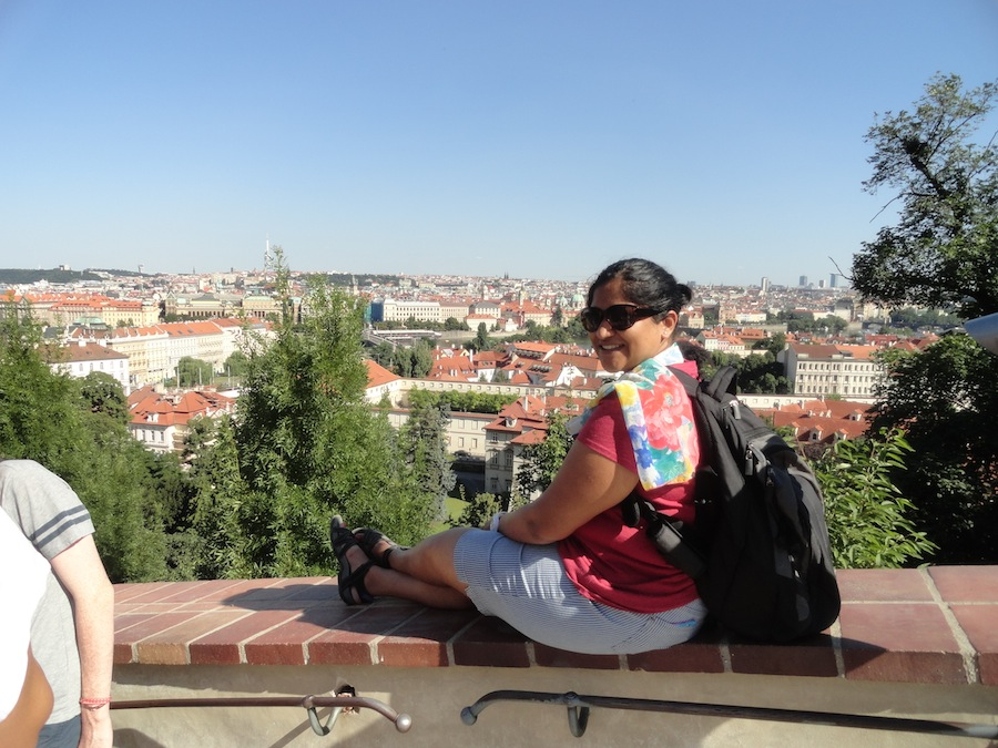 European Summer. Overlooking the city of Prague.