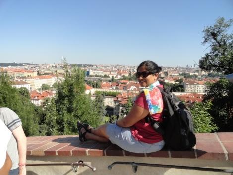 European Summer. Overlooking the city of Prague.