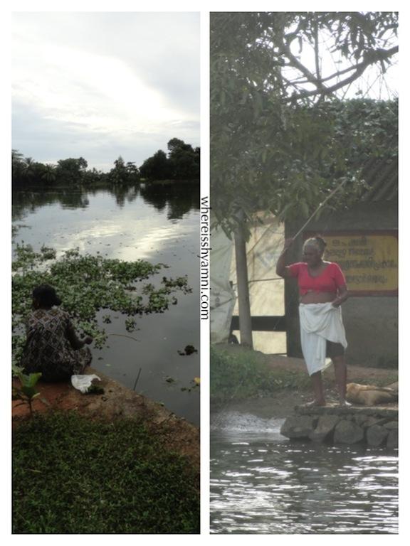 Women Fishing In Alleppey