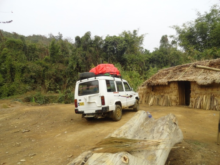 We were offered tea at this Naga home on the highway.