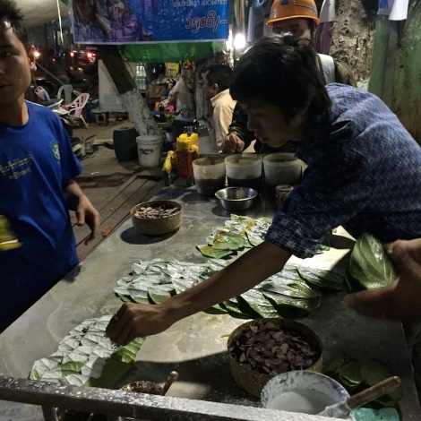 Paan stall in Monywa