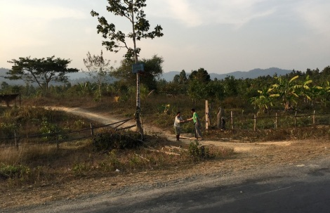 Delivering mail in remote Myanmar.