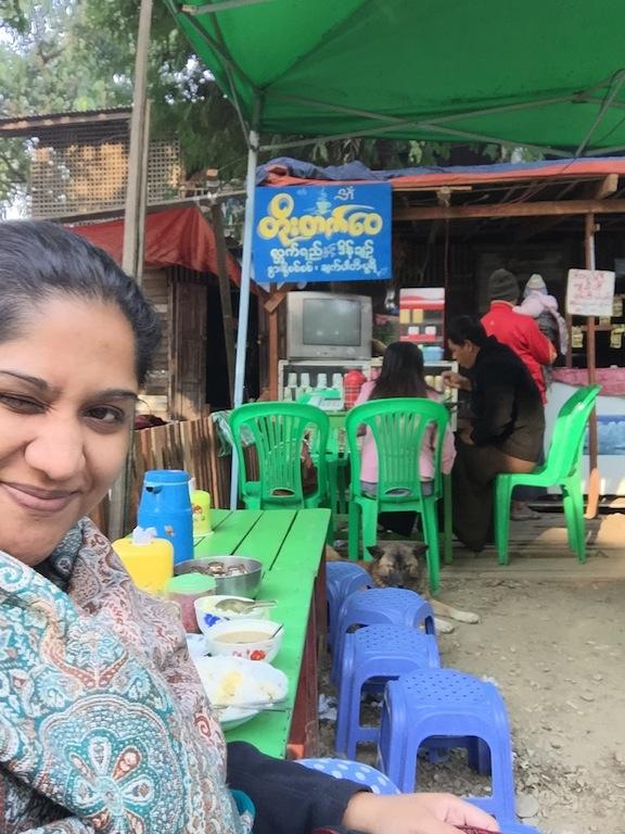 Breakfast at a Burmese Gurkha joint.