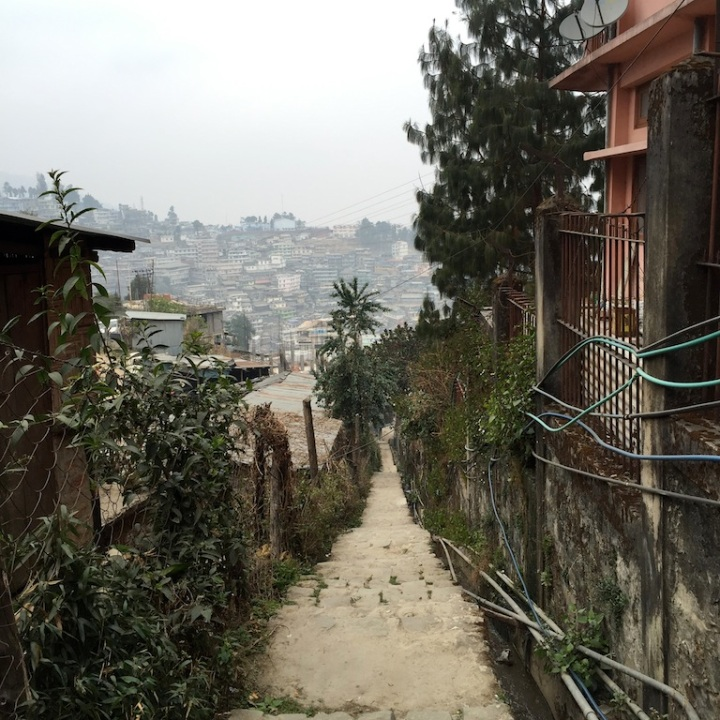 Walkways through many small localities of Kohima.