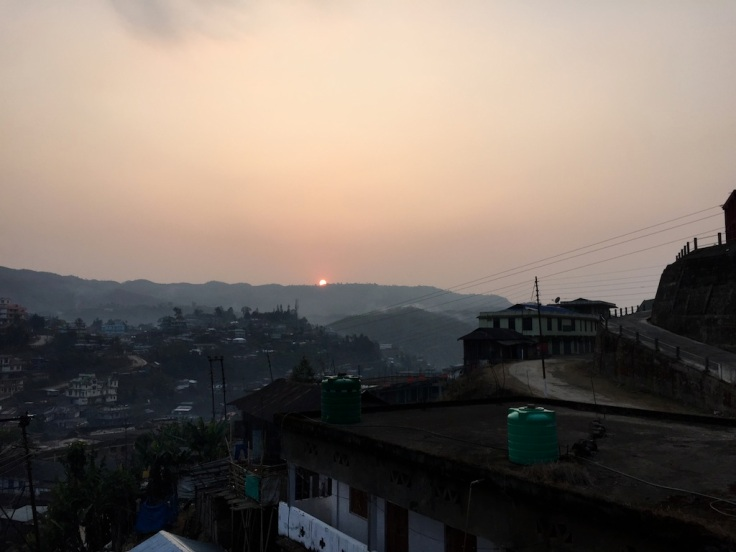 Sunset over Mon