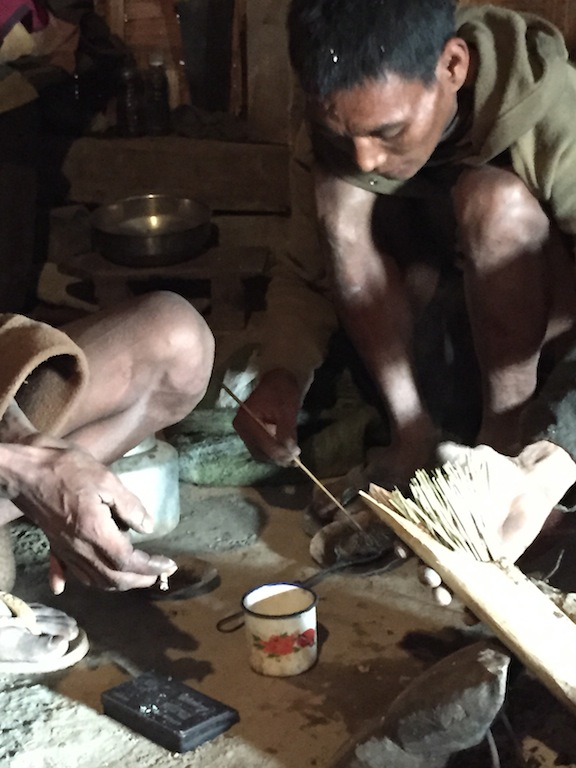 Preparing of an opium joint