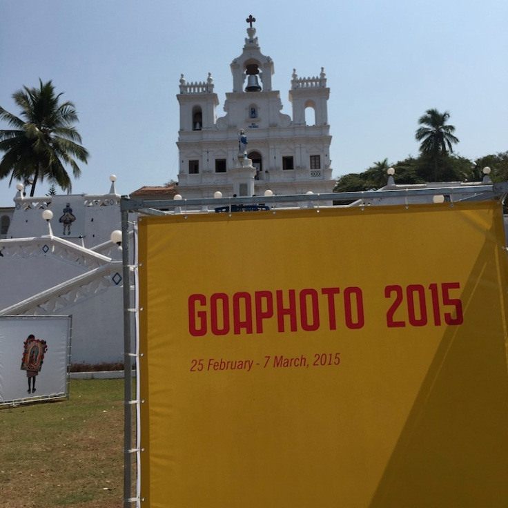 GoaPhoto exhibition outside Immaculate Conception Church